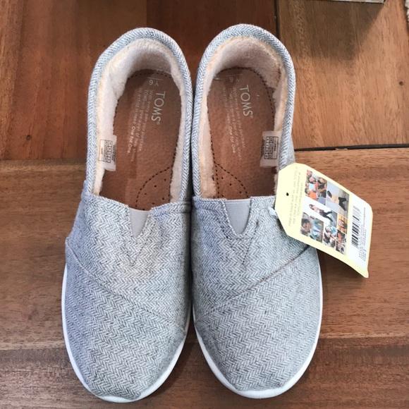 699edb1c173 Toms classic grey wool herringbone youth 6